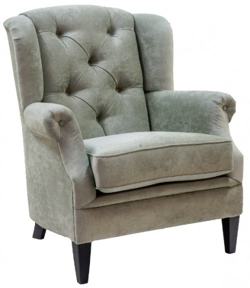 Fauteuil met grote capiton